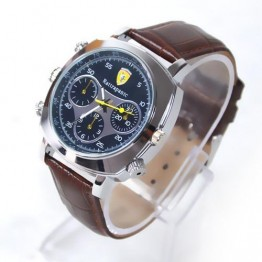 NEW FOR 2013 HD SPY WATCH 8GB BROWN LEATHER STRAP